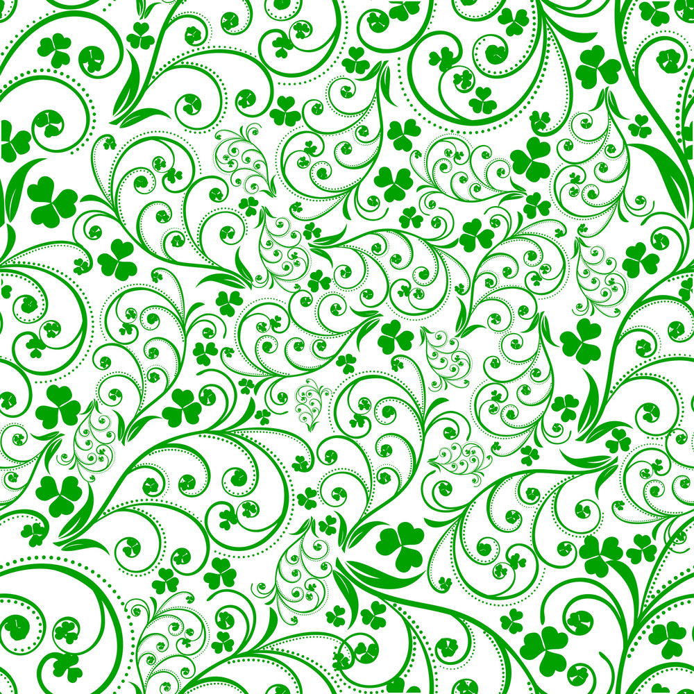Happy St. Patrick's Day Seamless Patterm Design.