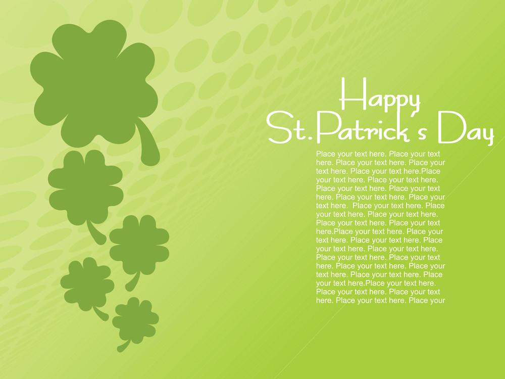 Happy St. Patrick's Day Shamrock Pattern Card