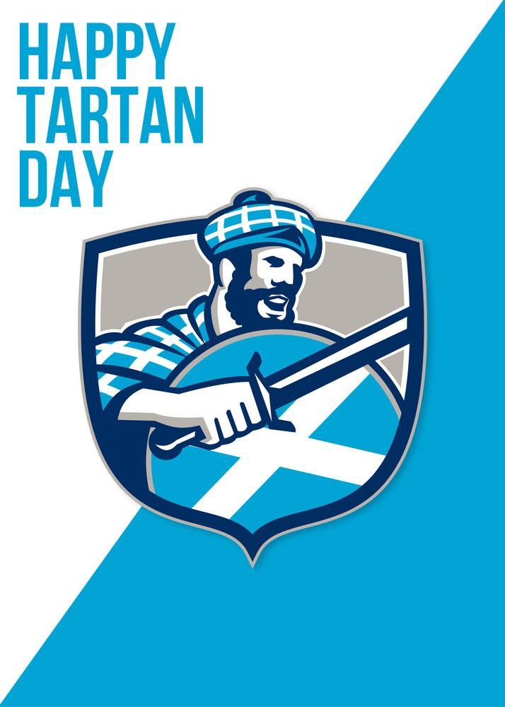 Happy Tartan Day Highlander Greeting Card