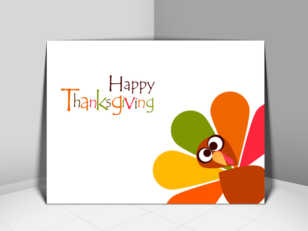 Happy Thanksgiving Day Concept With Beautiful Turkey Bird