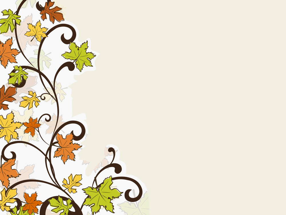 Happy Thanksgiving Day Concept With Colorful Autumn Leaves On Vintage Background