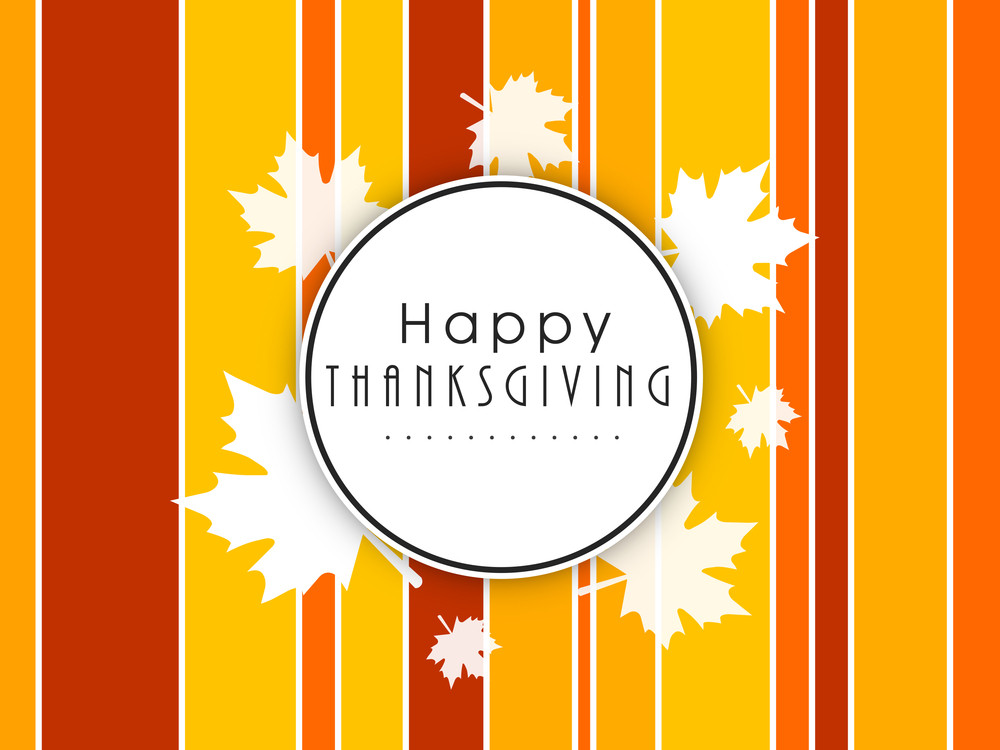 Happy Thanksgiving Day Concept With Sticker