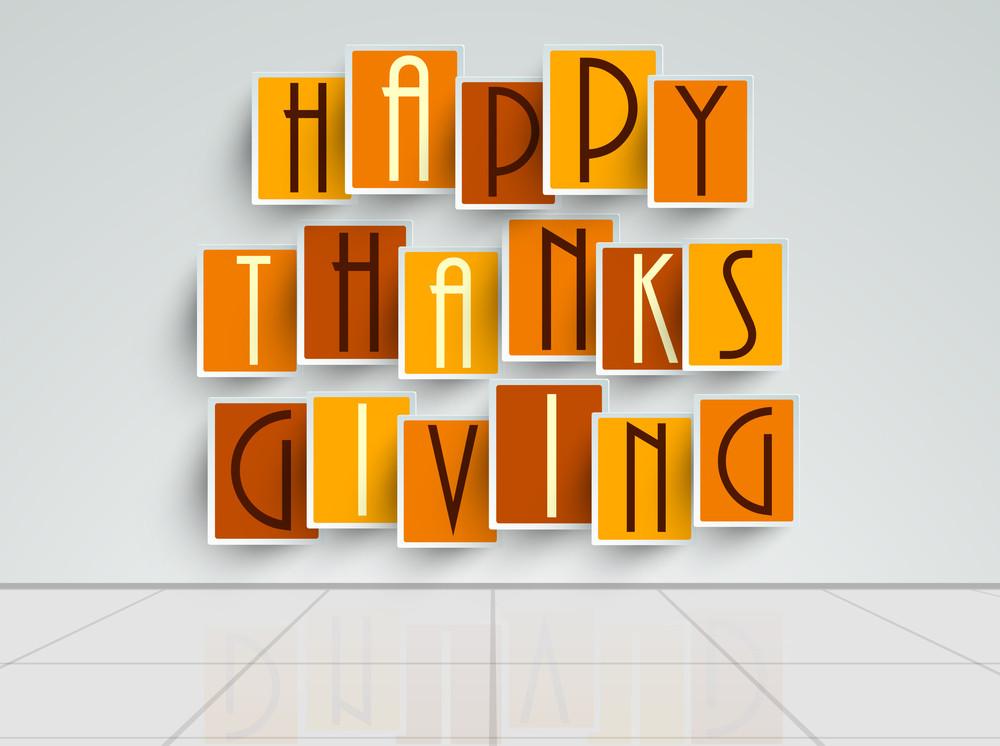 Happy Thanksgiving Day Sticker