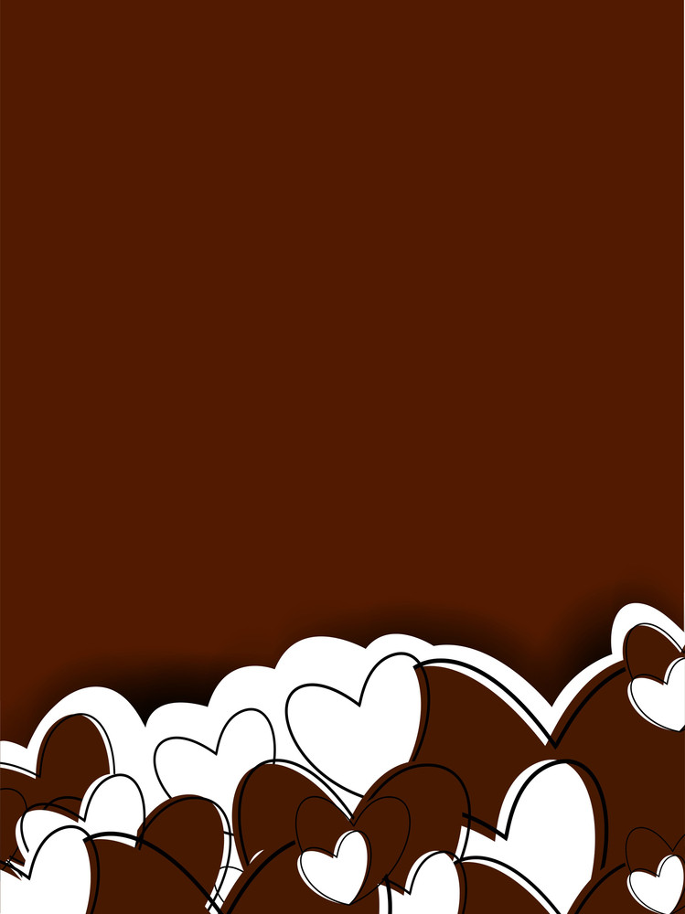 Happy Valentines Day Background With Hearts