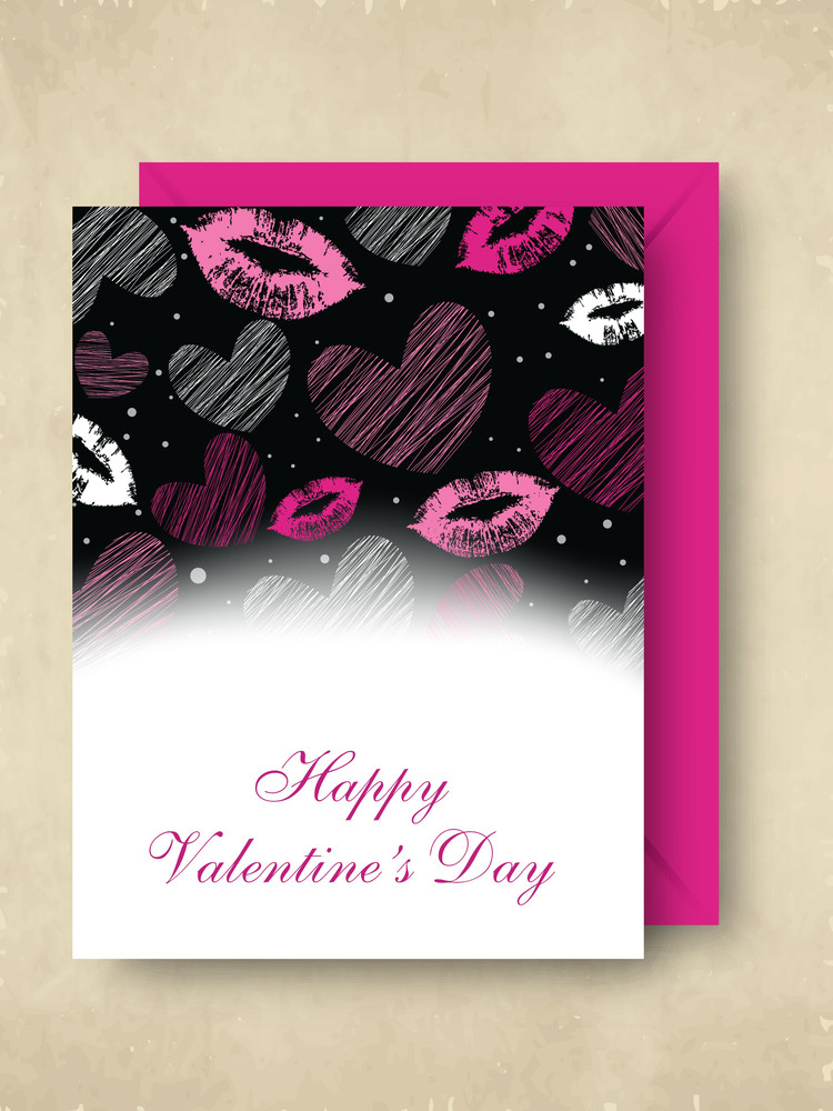 Happy Valentines Day   With Pink Envelope