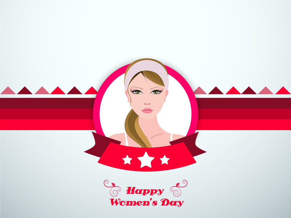 Happy Womens Day Celebrations Greeting Card Design.