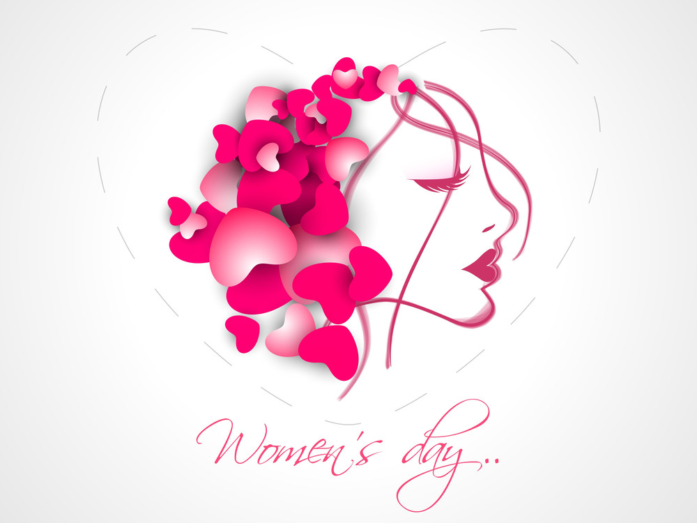 happy womens day celebrations greeting card design