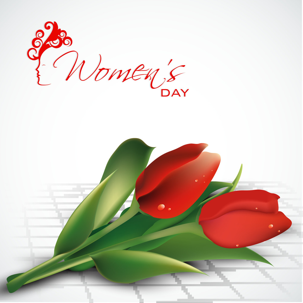 Happy Womens Day Greeting Card Or Poster Design With Beautiful