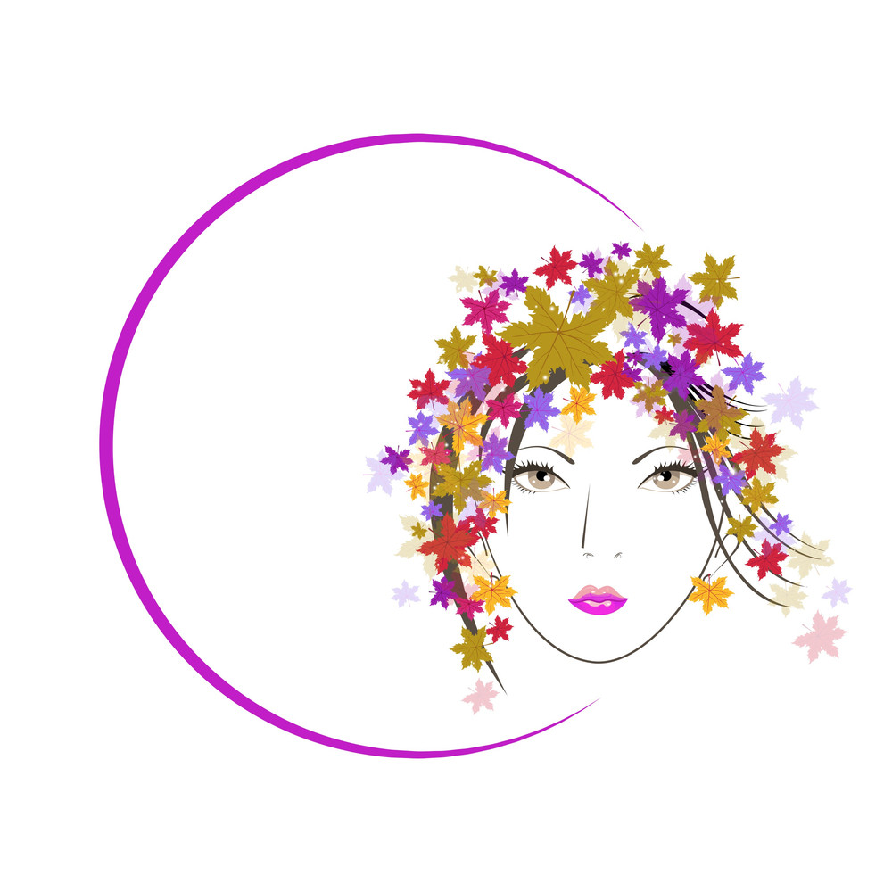 Happy Womens Day Greeting Card Or Poster Design With Illustration Of A Bl Girl In A Circle On Grey Background.