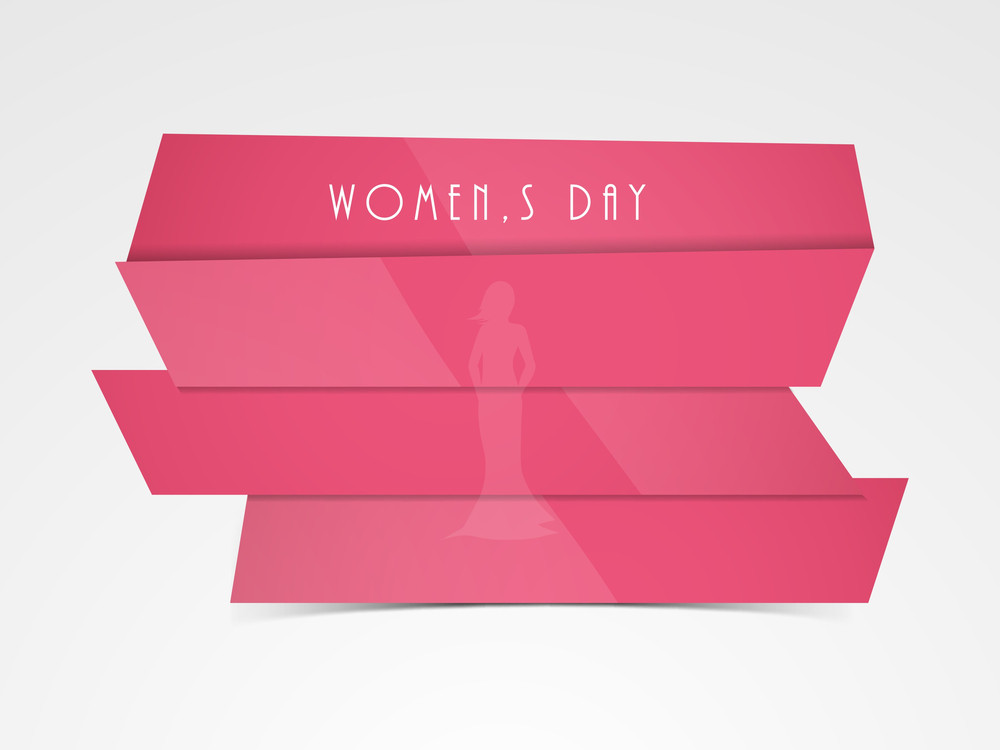Happy Womens Day Greeting Card Or Poster Design With Sticker