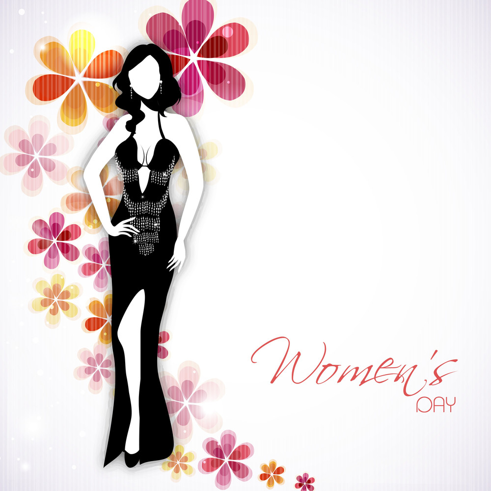 Happy Womens Day Greeting Card Or Poster Design With
