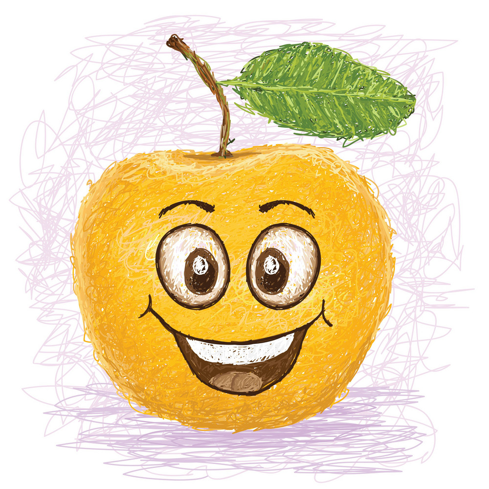 Happy Yellow Apple