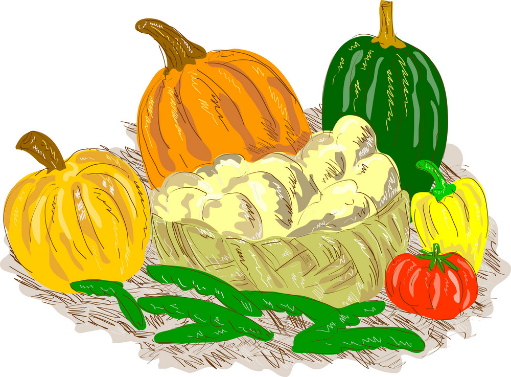 Harvest Vegetables Basket