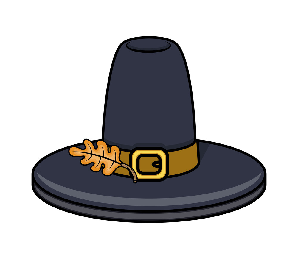 Hat With Leaf Vector