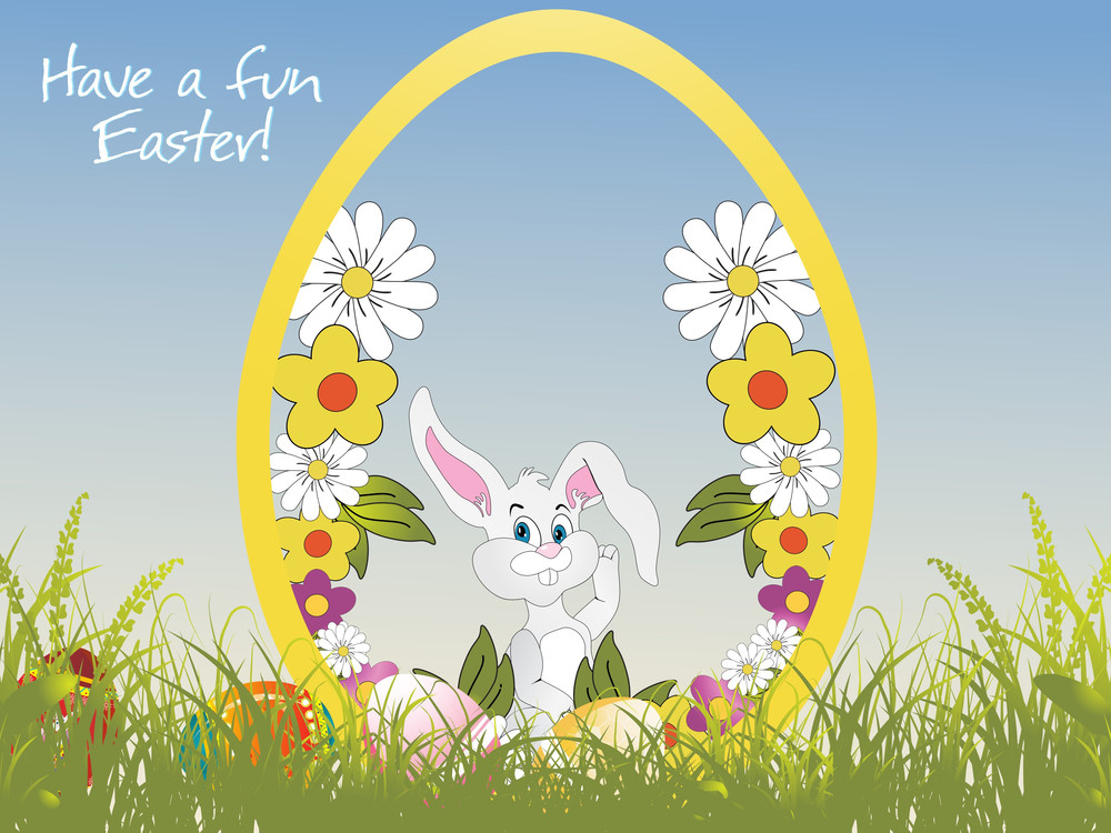 Have A Fun Easter Background Illustration