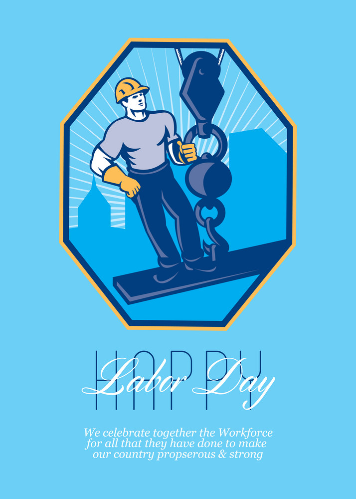 Have A Great Labor Day Retro Greeting Card