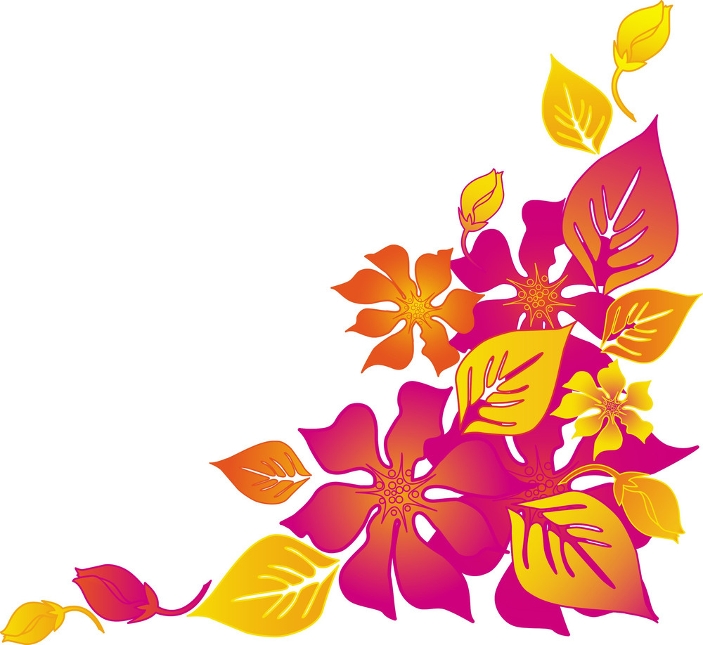 Hawaiian Abstract Flower Background