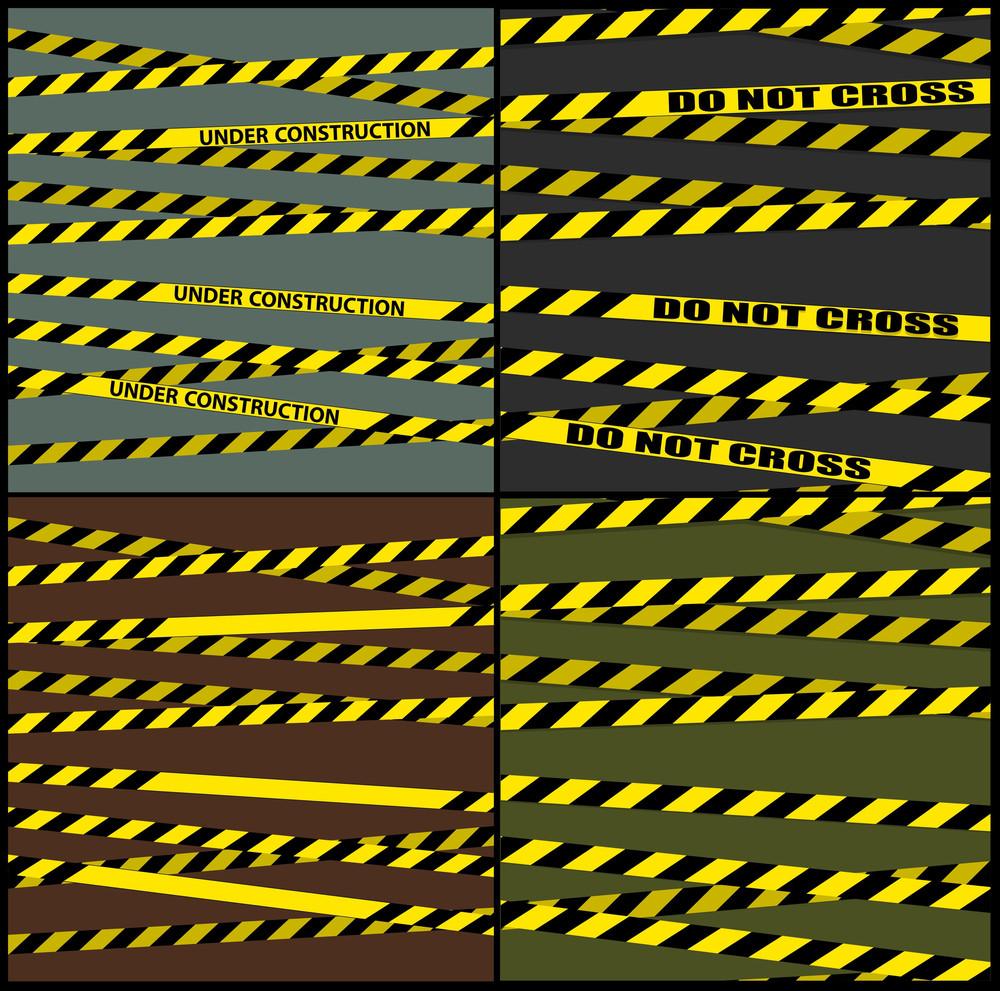 Hazard Lines Vector Backgrounds