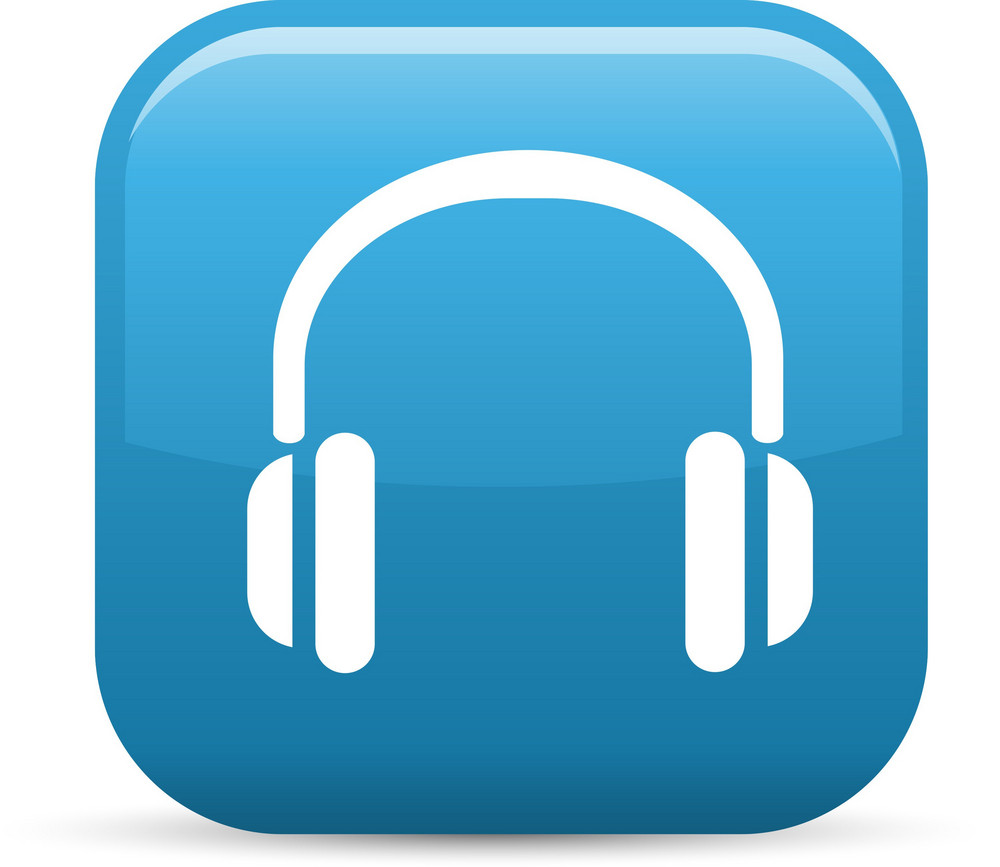 Headphones Elements Glossy Icon