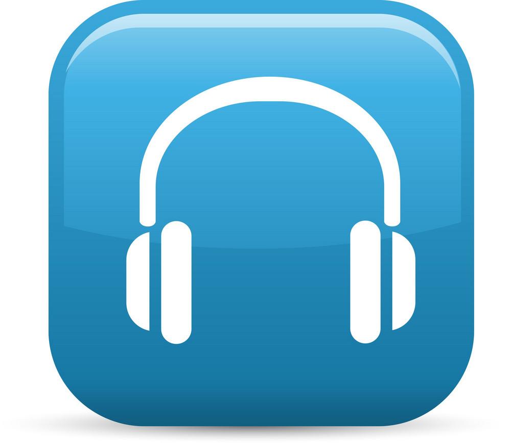 Headphones Elements Glossy Icon