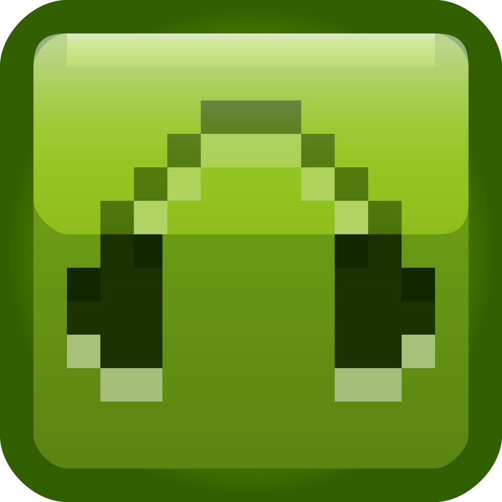 Headphones Green Tiny App Icon
