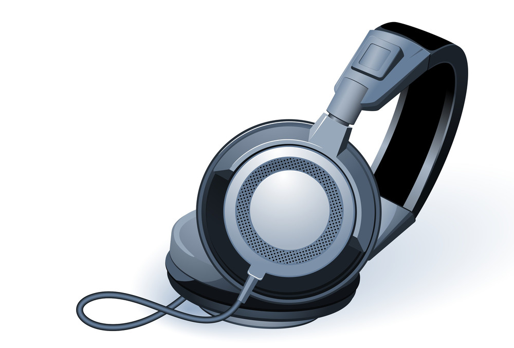 Headphones. Vector.