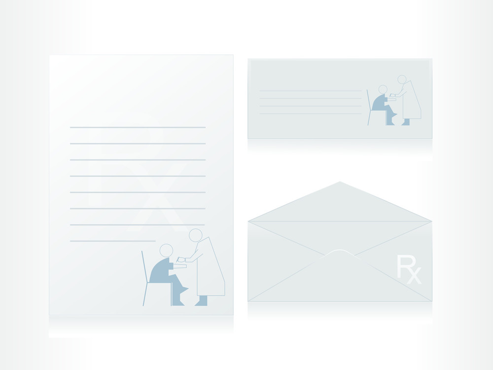 Health Care Worker And Woman On The Letter Background