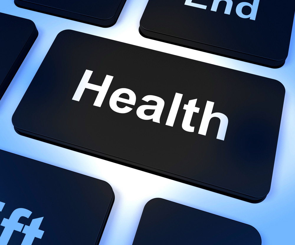 Health Key Showing Online Healthcare