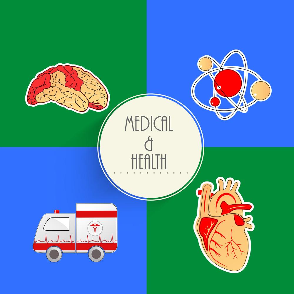 Health & Medical Concept Sticker