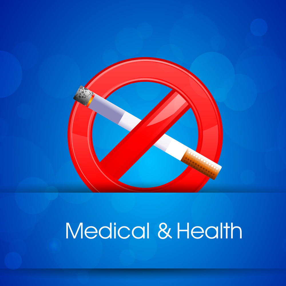 Health & Medical Concept With Anti Smoking Background.