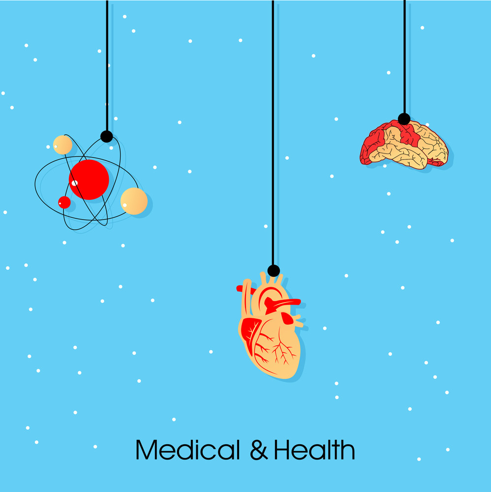 Health & Medical Concept With Hanging Heart