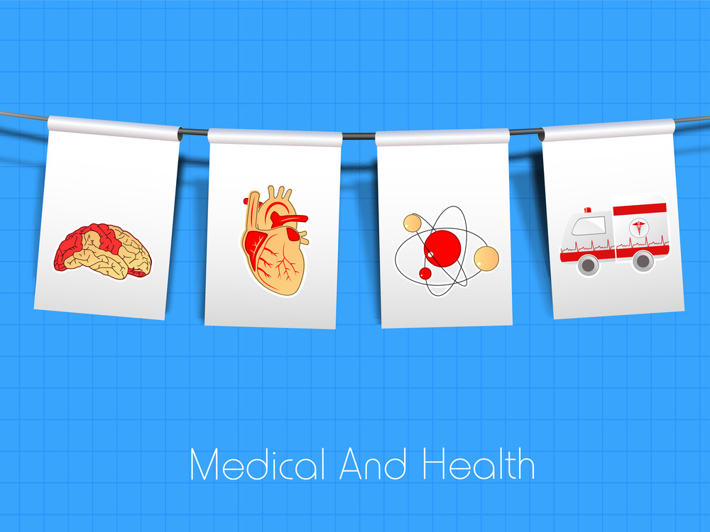Health & Medical Concept With Hanging Tag