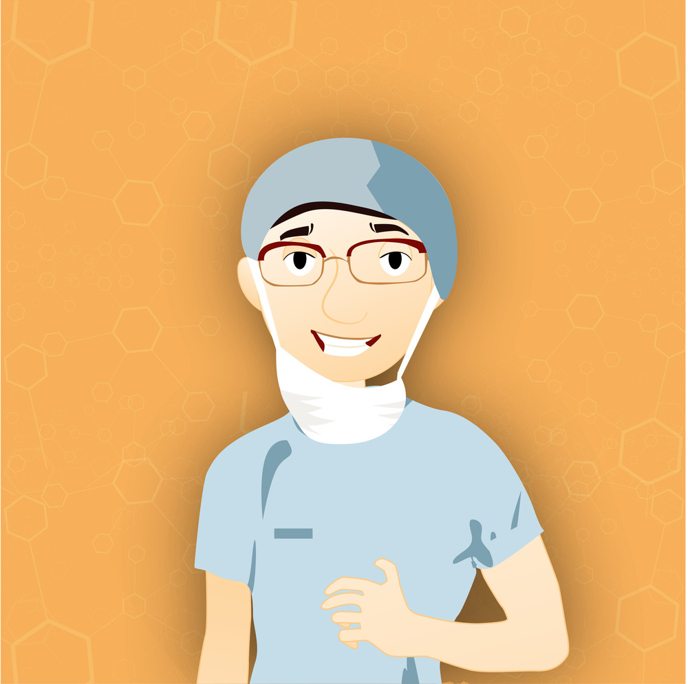 Health & Medical Concept With Illustration Of A Doctor On Yellow Background.