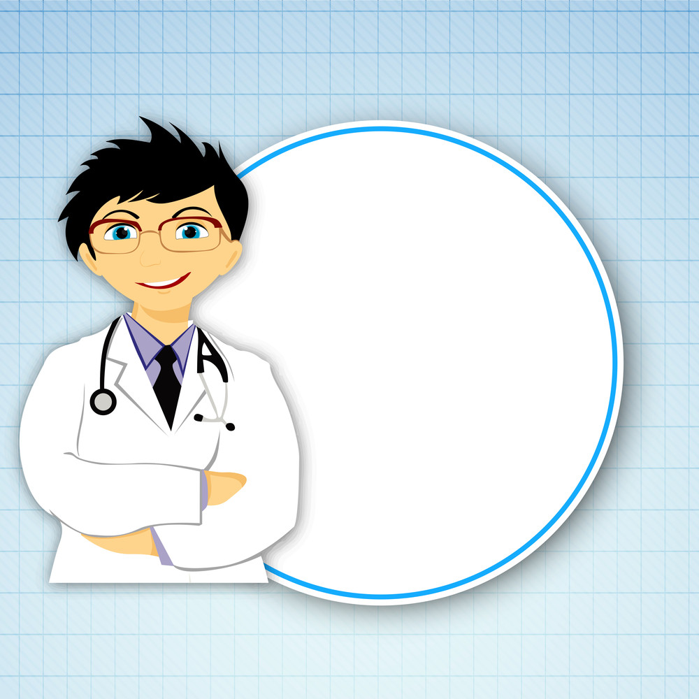 Health & Medical Concept With Illustration Of A Doctor