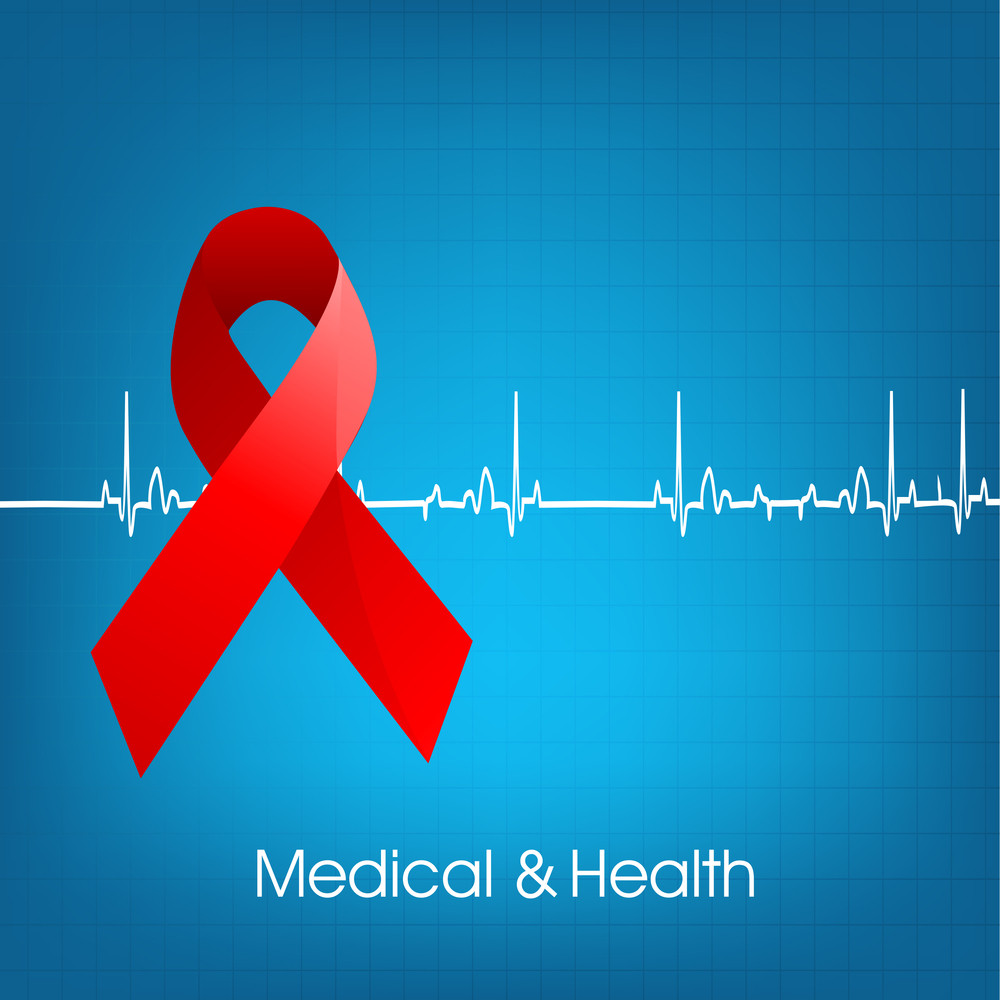 Health & Medical Concept With Red Ribbon