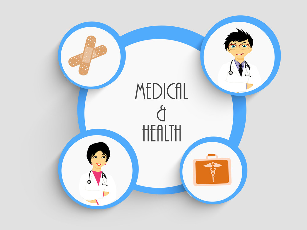 Health & Medical Concept With Sticker