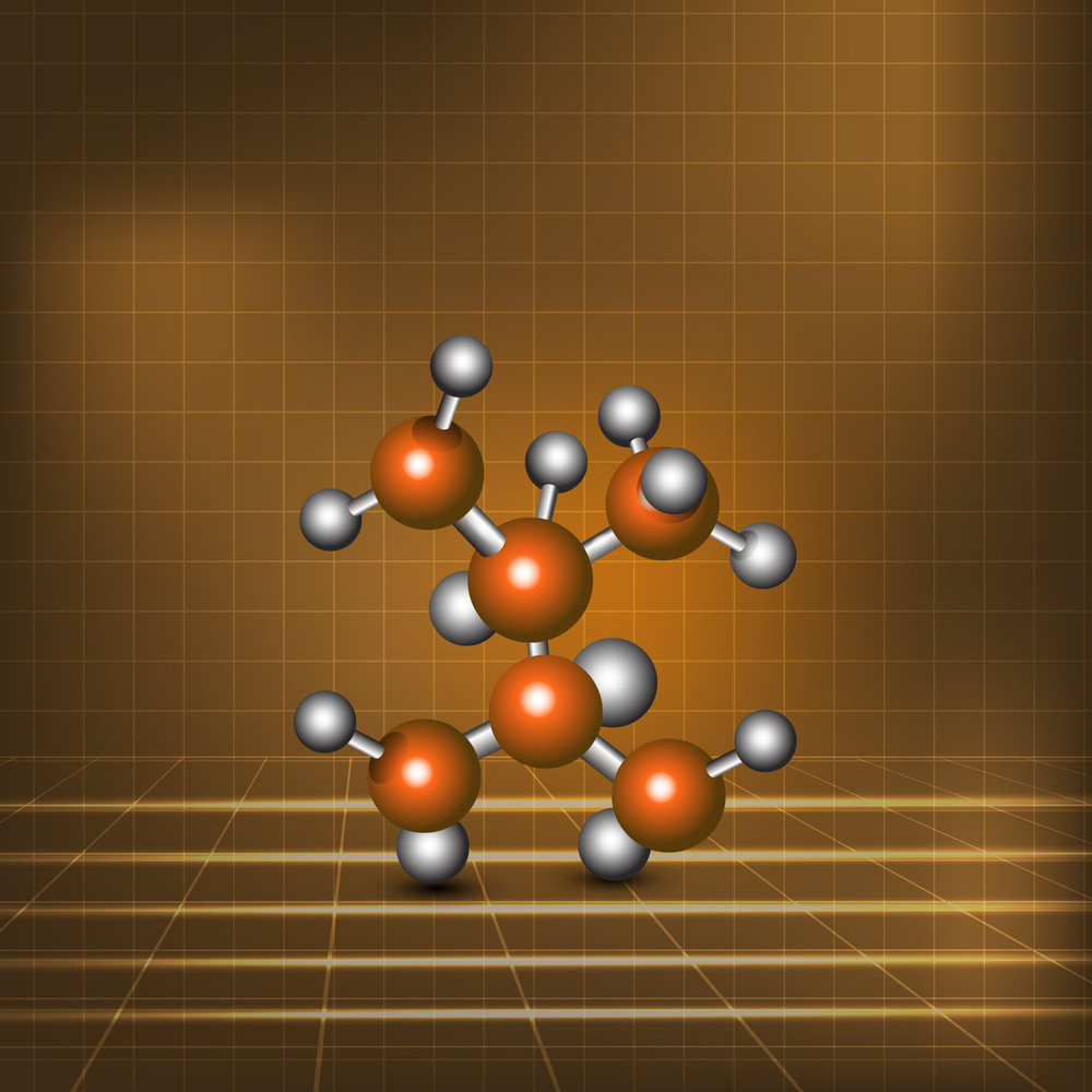 Health & Medical Concept With Stylish Molecule On Brown Background.