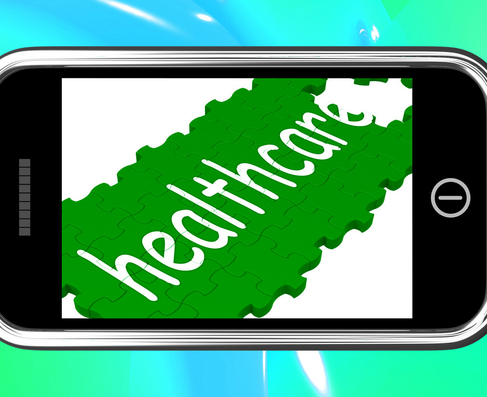 Healthcare On Smartphone Shows Medical Care