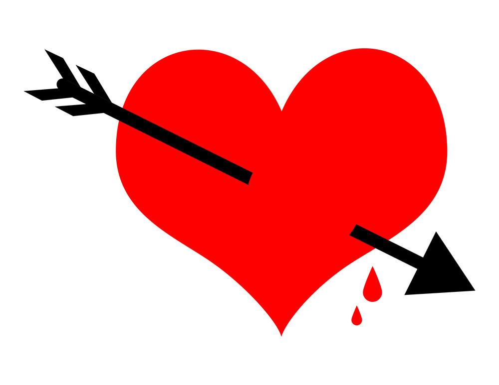 Heart Arrow Vector Shape