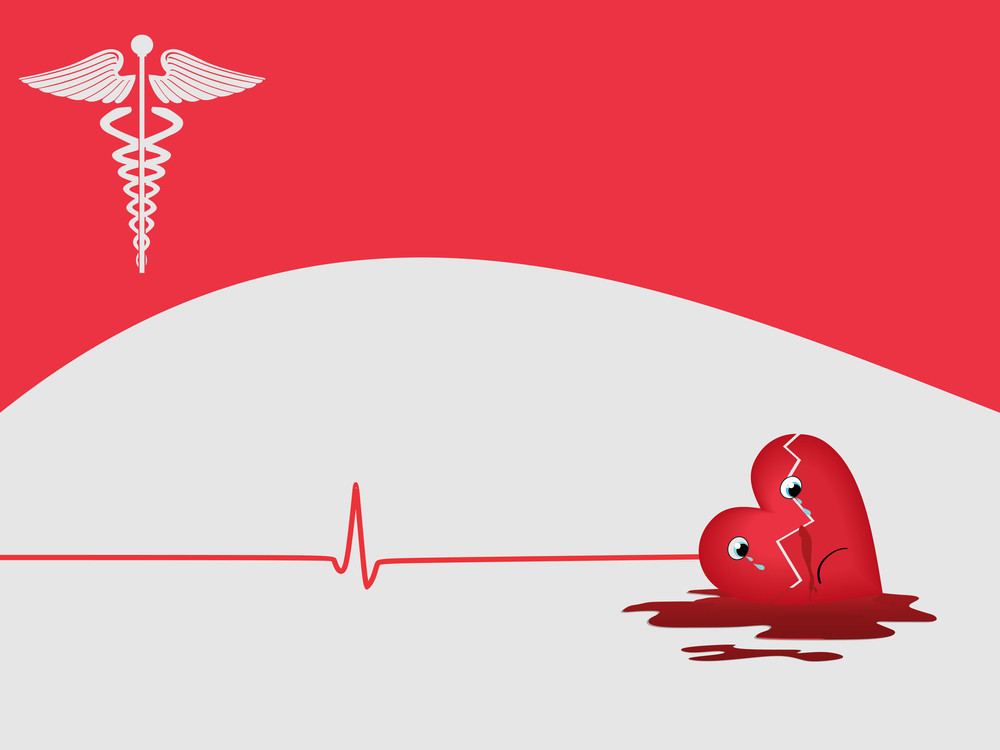 Heart Attack Background With Medical Symbol Royalty Free Stock Image
