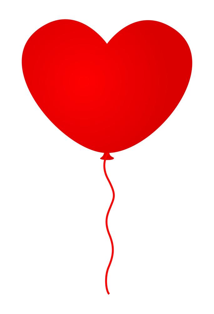 Heart Balloon Isolated