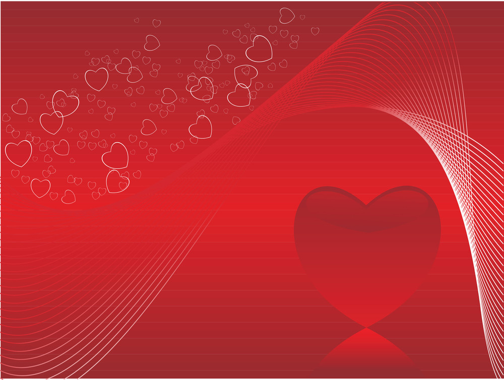 Heart Bubble Romantic Red Banner