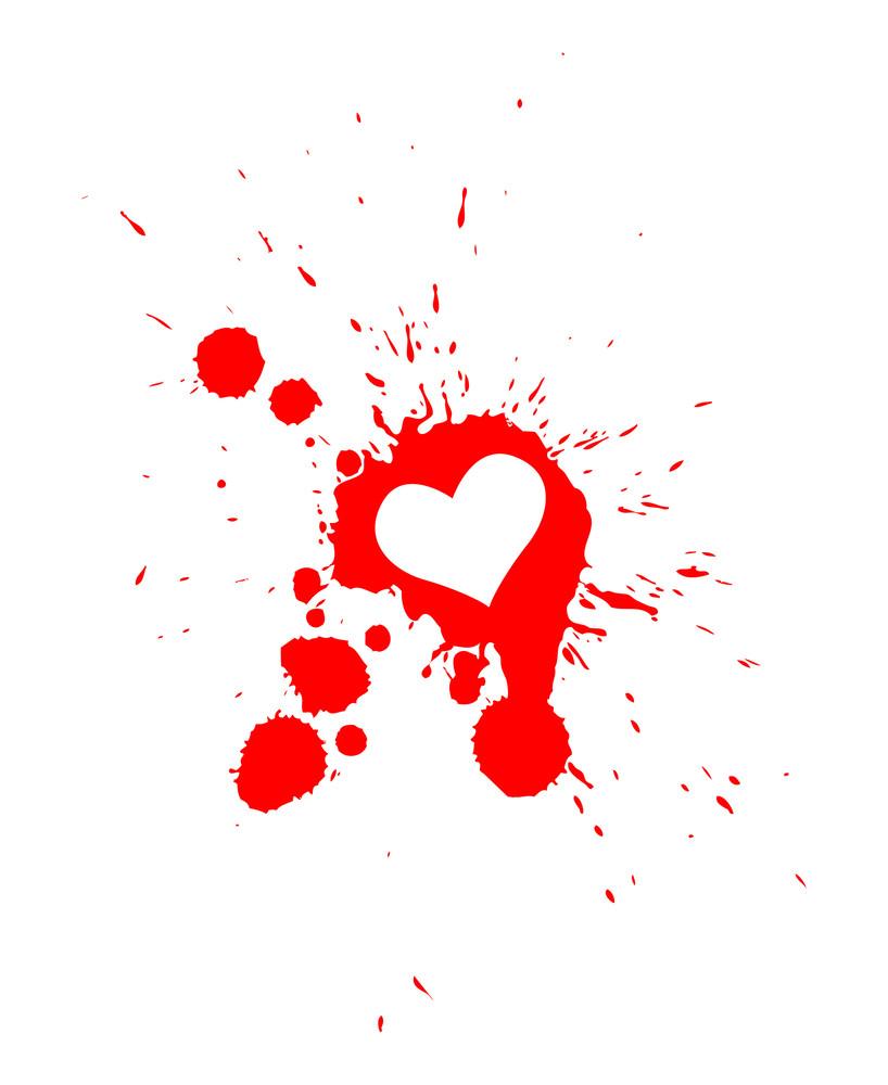 Heart Drop Vector