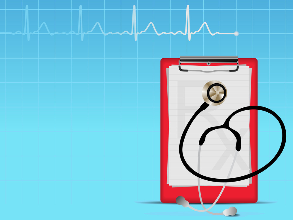 Heart Graph  Medical Background With