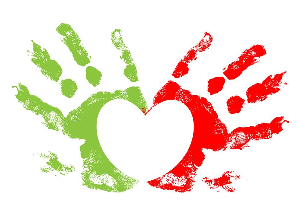 Heart Hand Prints