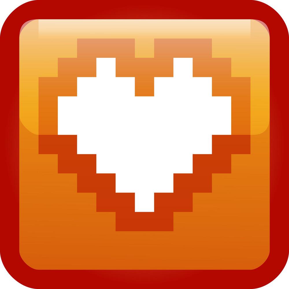 Heart Orange Tiny App Icon
