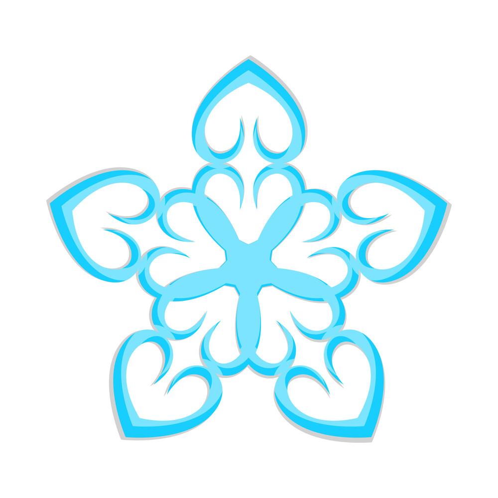 Heart Shape Snowflake Design