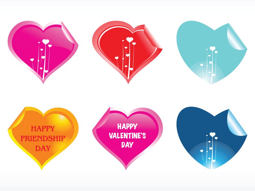 Heart Shape Stickers In Pink