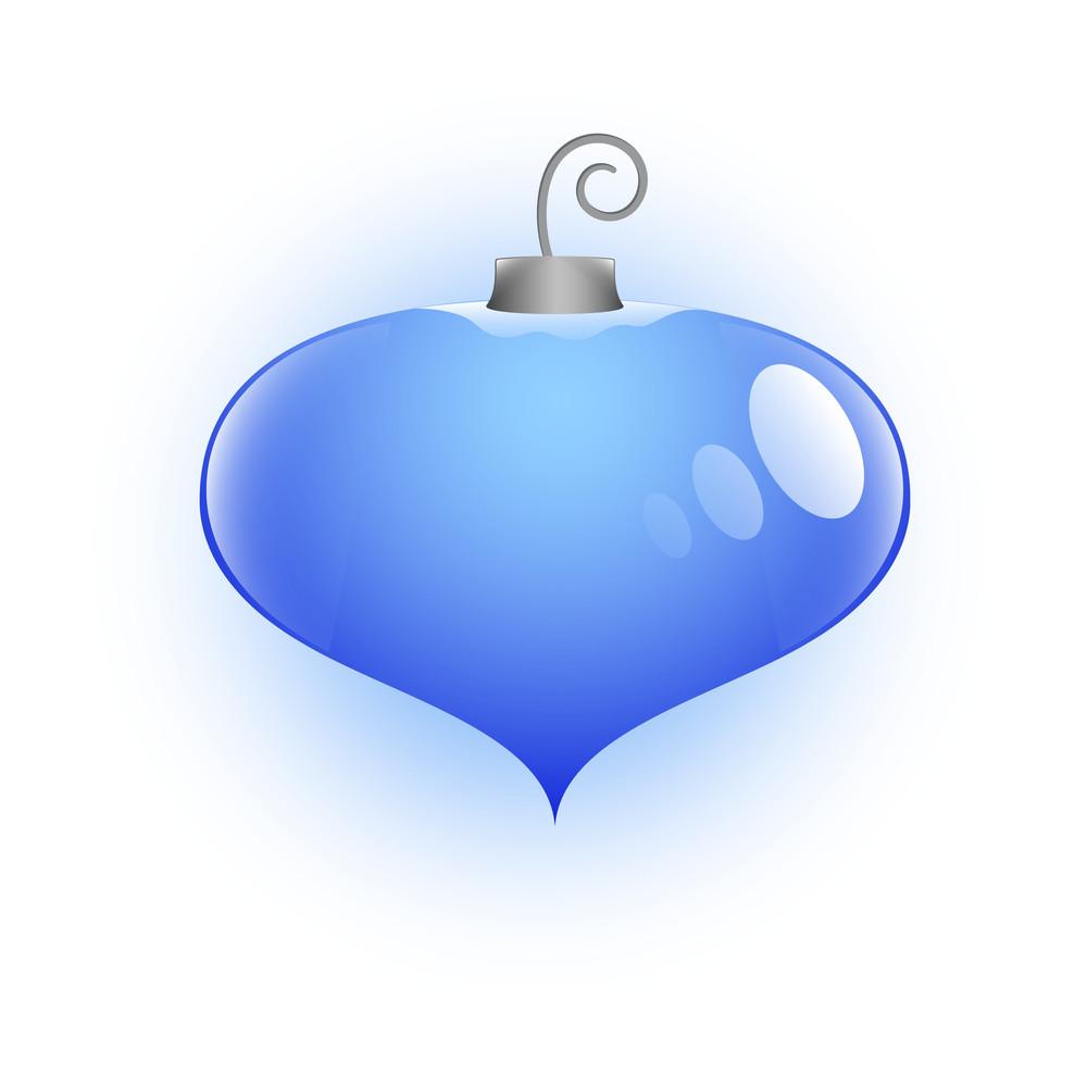 Heart Shaped Christmas Bauble Vector Illustration