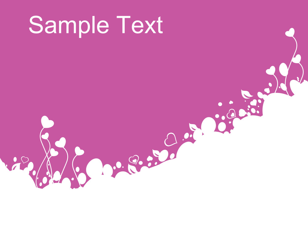 Heart Shaped Floral Background